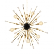 Chandelier Tivoli L black/brass